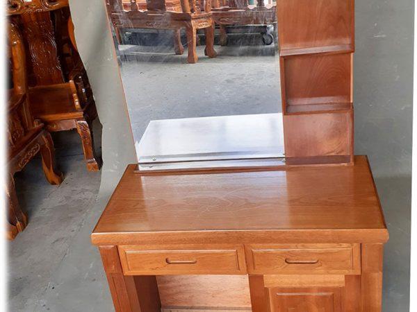 Bàn phấn trang điểm gỗ xoan đào 80cm gương chữ nhật BT093