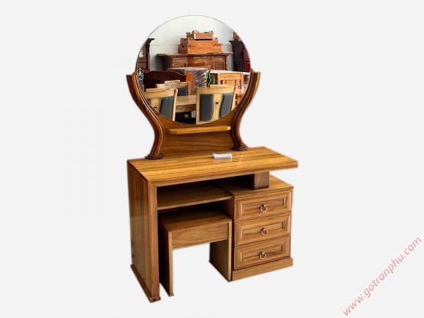 Bàn trang điểm gỗ hương xám gương tròn BT089 (2)