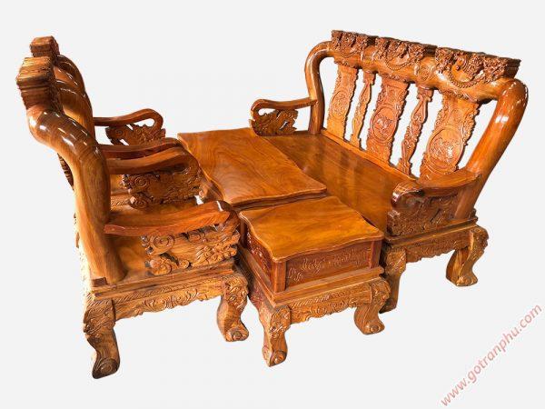 Bộ Salon tay 12 gỗ gõ đỏ Việt Nam SA013