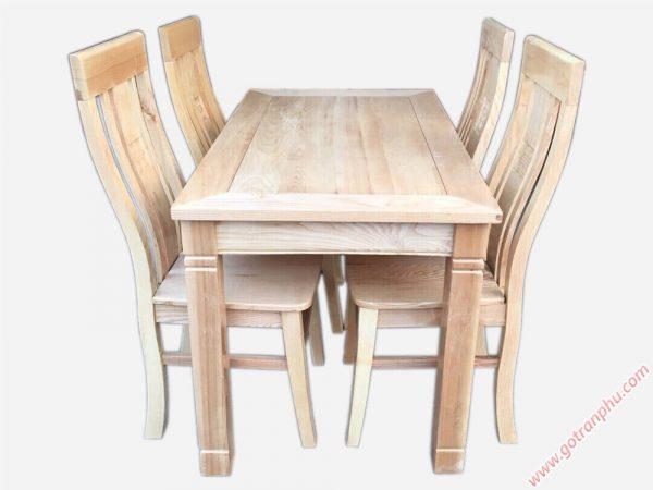 Bộ bàn ăn gỗ sồi Nga 4 ghế BA055