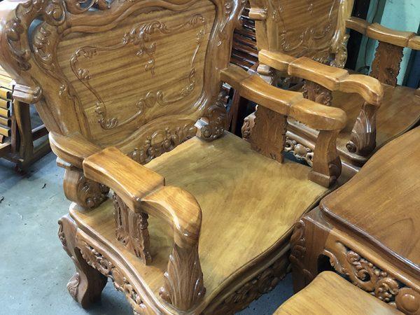 Bộ bàn ghế Salon gỗ gõ đỏ Lào luis SA014