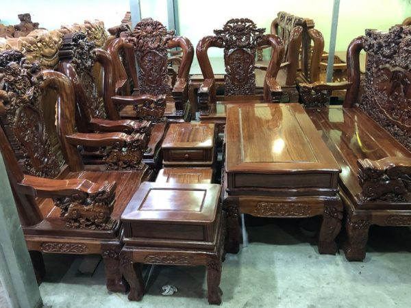Bộ bàn ghế salon gỗ gõ đỏ