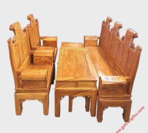 Bộ salon gỗ gõ đỏ Lào Á Âu SA012