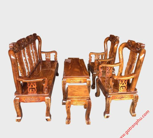 Bộ salon tay 8 gỗ xoan đào SA021