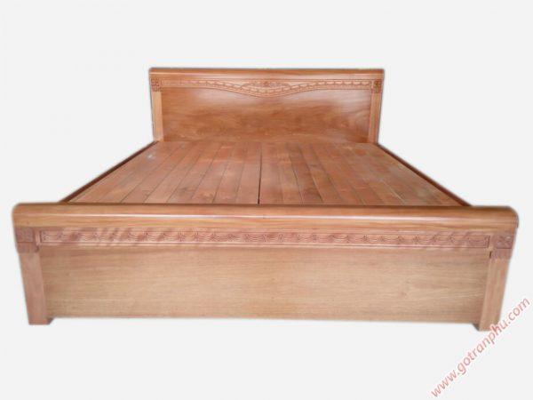 Giường gỗ đinh hương kẻ chỉ dát phản GI017 (1m6 x 2m) gỗ tự nhiên