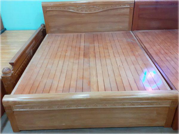 Giường gỗ đinh hương kẻ chỉ dát phản GI018 (1m8 x 2m) gỗ tự nhiên