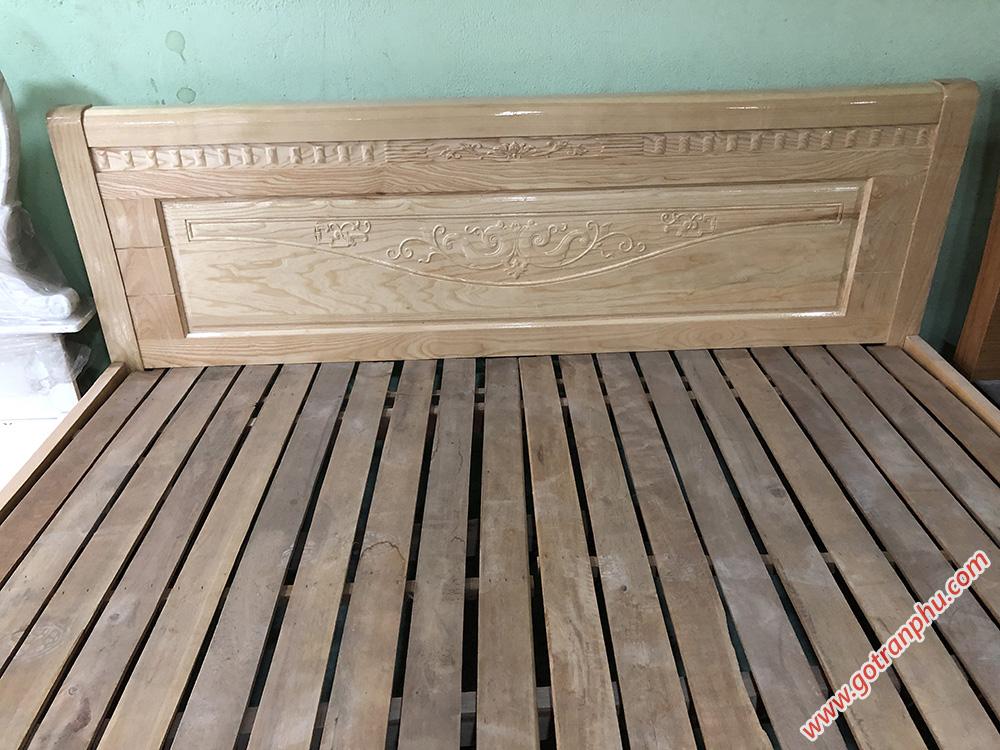 Giường gỗ sồi Nga (1m6 - 1m8 x 2m) dát giường thanh gỗ tự nhiên