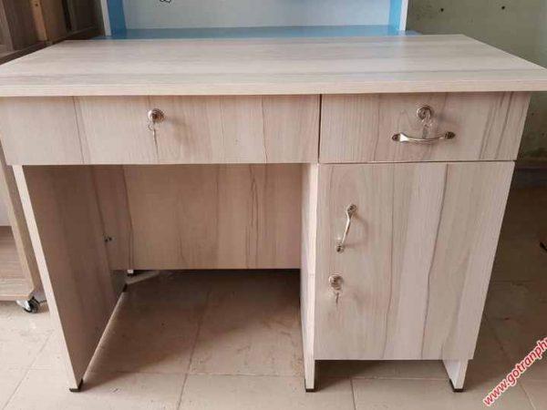 P259 BL001 Bàn làm việc gỗ melamine 3 ngăn tủ (3)