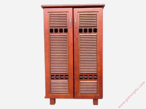 Tủ đựng giày dép gỗ cao su TD108 2 cánh 60cm