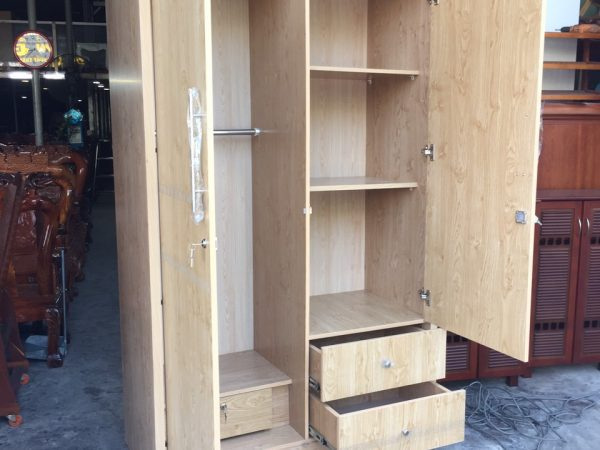 Tủ quần áo 2 cánh gỗ Melamine - TA117 (4)