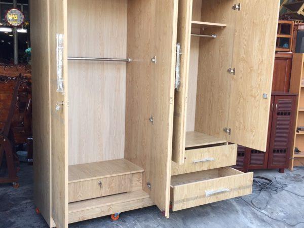 Tủ quần áo 4 cánh gỗ Melamine - TA120 (2)