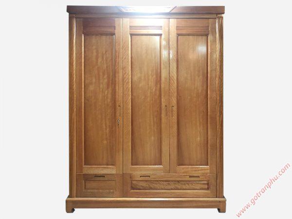 Tủ quần áo gỗ đinh hương 3 cánh (1m6 x 2m1) TA042