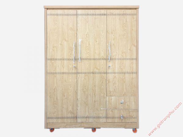 Tủ quần áo 3 cánh gỗ công nghiệp melamine TA118 (1m4 x 2m1)