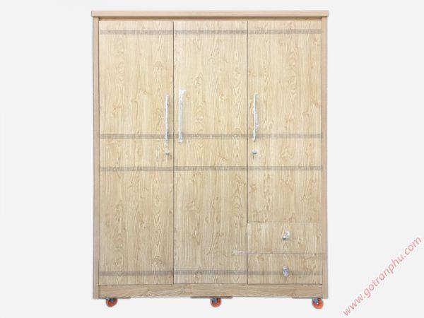 Tủ quần áo gỗ Melamine 3 cánh (1m6 x 2m1) TA119