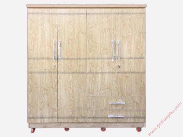 Tủ quần áo 4 cánh gỗ công nghiệp melamine TA120 (1m8 x 2m1)