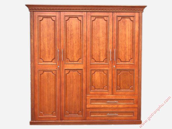Tủ quần áo gỗ còng 4 cánh TA115 (1m8 x 2m1)
