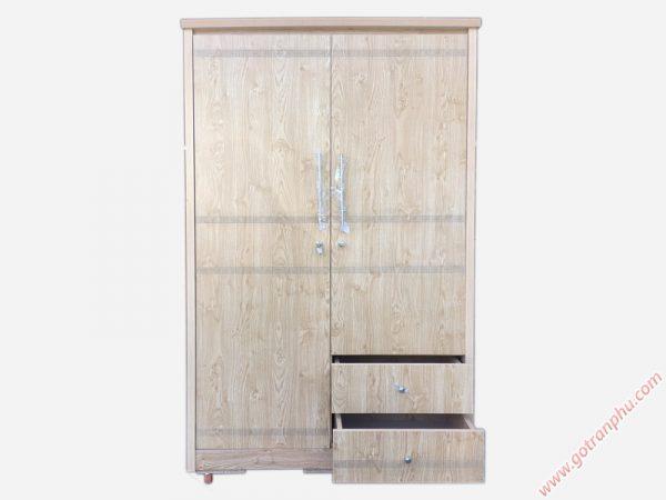 Tủ quần áo gỗ công nghiệp melamine MFC 2 cánh (1m2 x 2m1) TA117