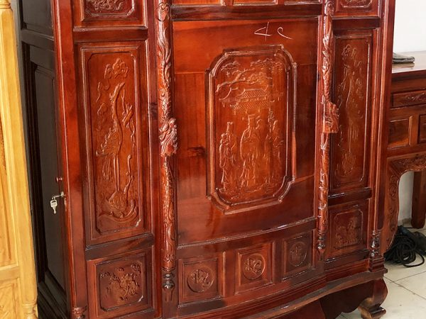 Tủ thờ gỗ xoan đào 4 chân TT018