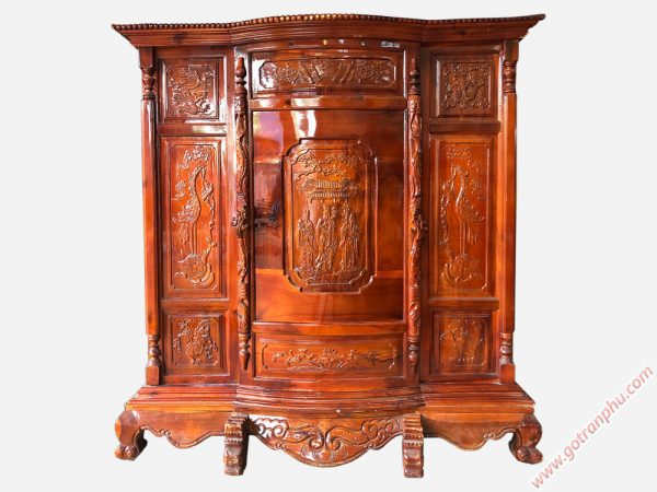Tủ thờ gỗ xoan đào 6 chân TT017
