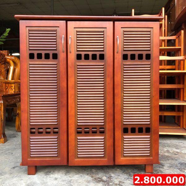 tủ quần áo gỗ cao su 3 cánh