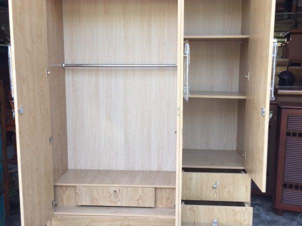 Tủ quần áo 3 cánh gỗ Melamine - TA118