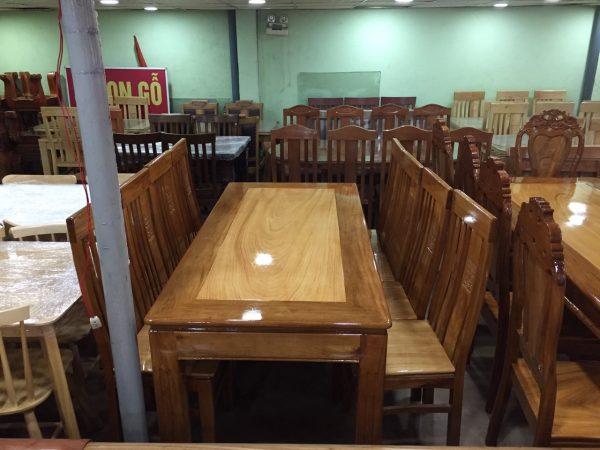 Bàn ăn 8 ghế gỗ căm gõ BA121 (1)