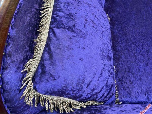 Bộ sofa áo nhung nữ hoàng nhập khẩu SF001 (3)