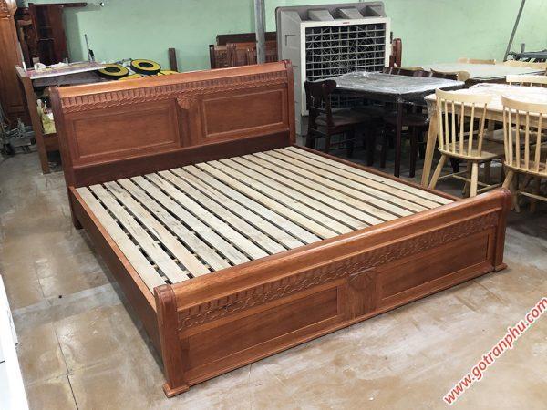 Giường gỗ căm xe gỗ tự nhiên 100% dát thanh