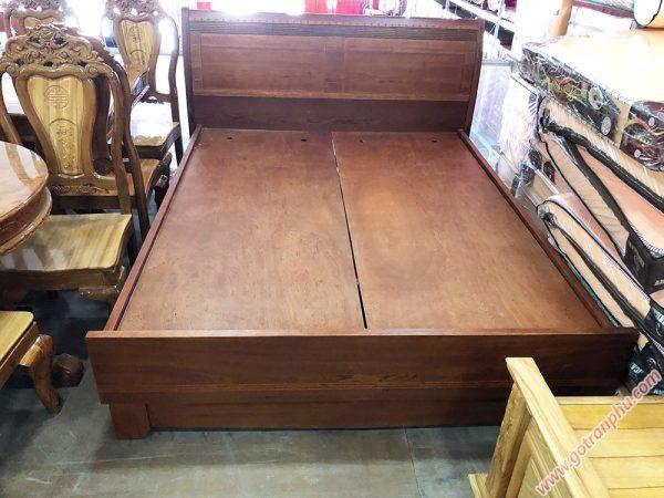 Giường gỗ căm xe dát phản liền tấm (1m8 x 2m)