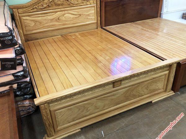 Giường ngủ gỗ gõ đỏ dát giường phản 1m6 - 1m8 x 2m (1)