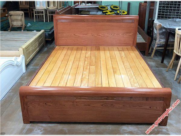 Giường ngủ gỗ hương đá kẻ chỉ dát phản (1m6 - 1m8 x 2m) (1)