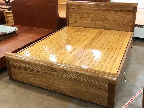 Giường ngủ gỗ hương xám kẻ chỉ giát phản (1m6 - 1m8 x 2m) (3)