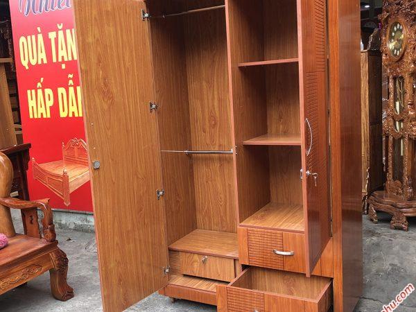 Tủ quần áo gỗ MDF nhập khẩu (1m2 x 2m1) tủ 2 cánh TA002