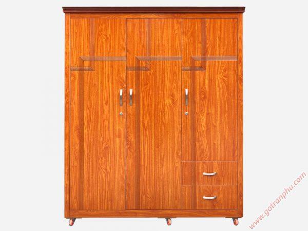 Tủ quần áo gỗ MDF nhập khẩu (1m4 x 2m1) tủ 3 cánh