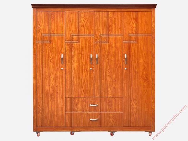 Tủ quần áo gỗ MDF nhập khẩu (1m8 x 2m1) tủ 4 cánh TA004
