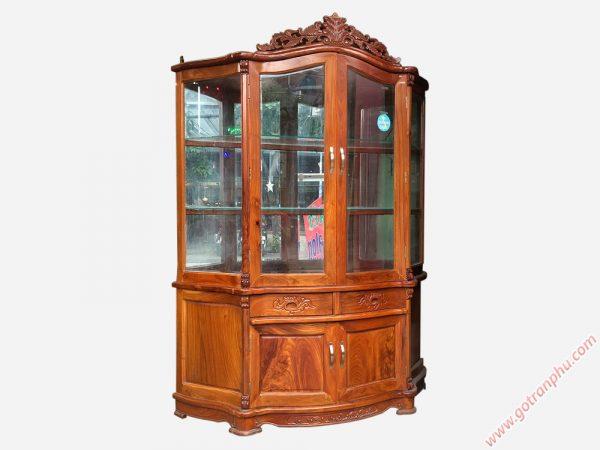 Tủ rượu gỗ đỏ Lào gỗ tự nhiên cao cấp TR001