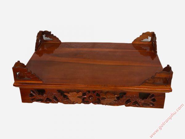 Bàn thờ cúng treo tường gỗ xoan đào ngang 80cm BC002 (8)