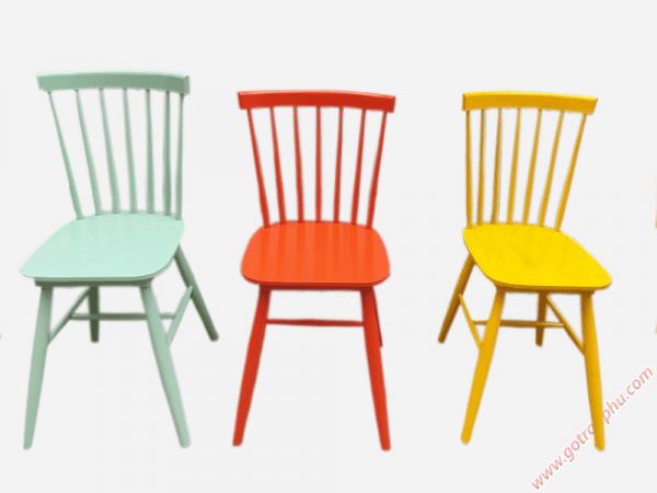 Ghế bàn ăn gỗ cao su cao cấp không nệm nhiều màu sắc (1)