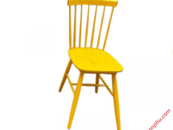 Ghế bàn ăn gỗ cao su cao cấp không nệm nhiều màu sắc (3)