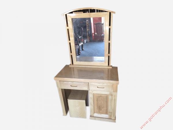 Bàn phấn trang điểm gỗ sồi gương hình chữ nhật (1)
