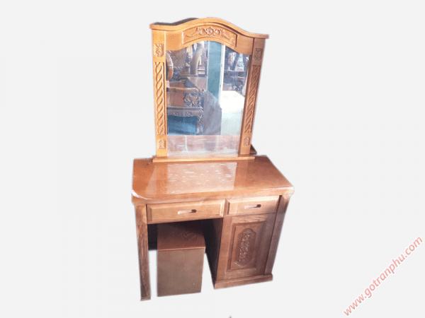 Bàn phấn trang điểm gỗ sồi gương hình chữ nhật (2)