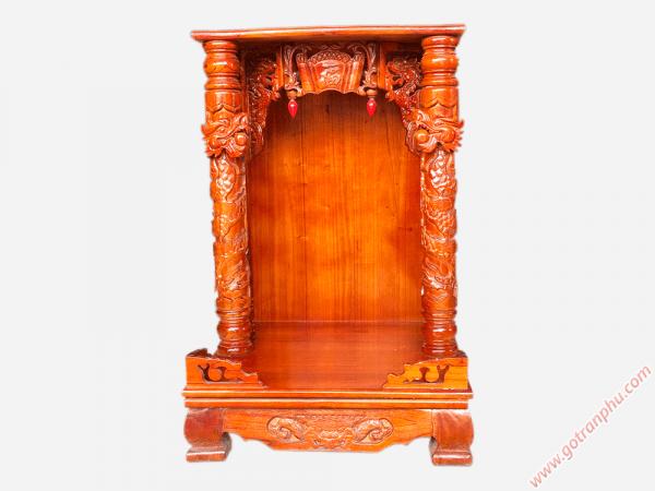 Bàn thờ ông địa thần tài gỗ xoan đào (866060cm) OD003 (1)