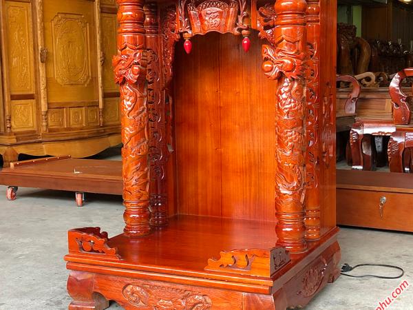 Bàn thờ ông địa thần tài gỗ xoan đào (866060cm) OD003 (6)
