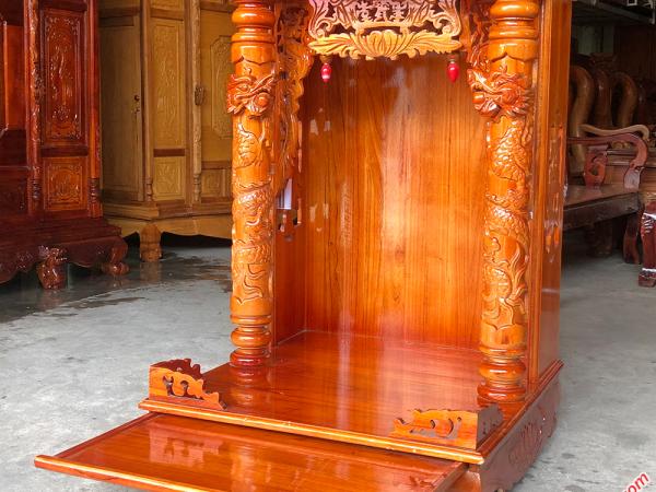 Bàn thờ ông địa thần tài gỗ xoan đào ngang 56cm OD005 (11)