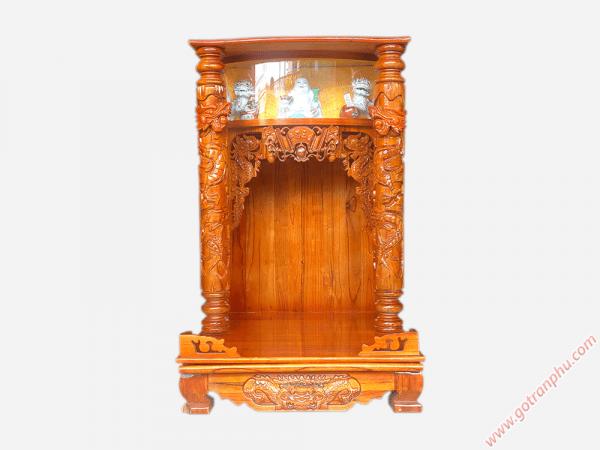 Bàn thờ ông địa thần tài gỗ xoan đào ngang 68cm OD004 (1)