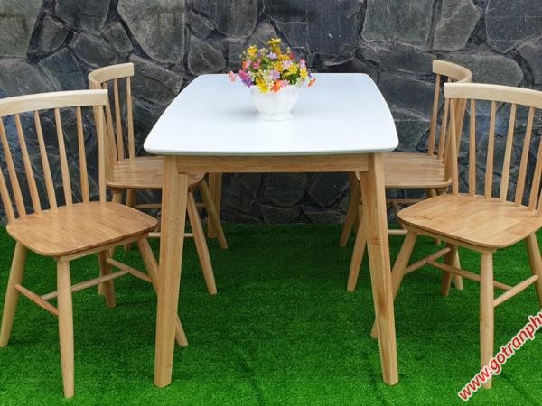 Bộ bàn ghế ăn gỗ cao su 4 ghế cao cấp BA009 (4)