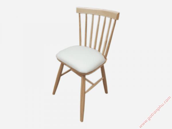 Ghế bàn ăn gỗ cao su nhập khẩu cao cấp (bọc da) GH025 (1)