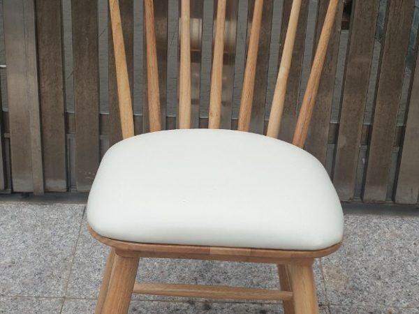 Ghế bàn ăn gỗ cao su nhập khẩu cao cấp (bọc da) GH025 (2)
