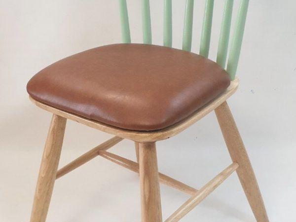 Ghế bàn ăn gỗ cao su nhập khẩu cao cấp (bọc da) GH028 (1)