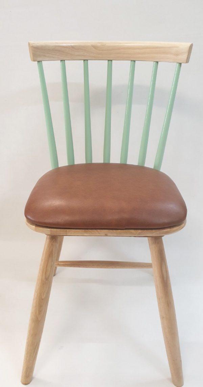Ghế bàn ăn gỗ cao su nhập khẩu cao cấp (bọc da) GH028 (2)